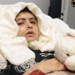Malala Yousufzai is seen recuperating at the The Queen Elizabeth Hospital in Birmingham in this handout photograph